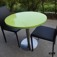 12mm solid surface +18mm Plywood Dining Hotel Restaurant Banquet Table