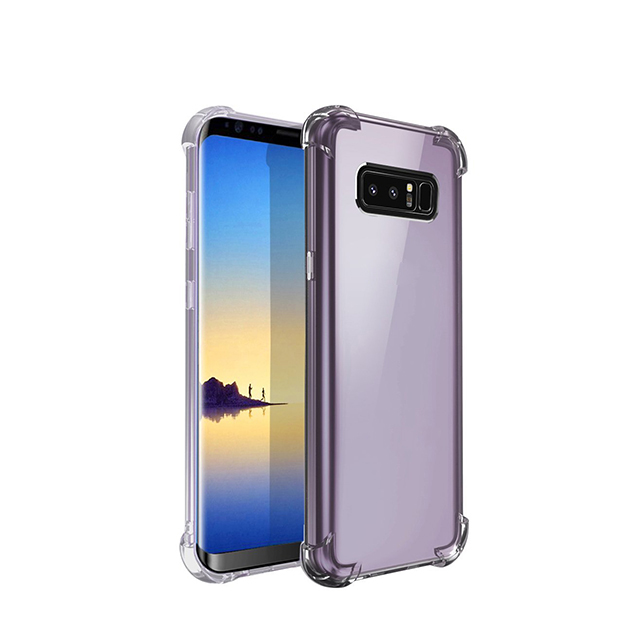 2018 Personalized Anti Shock Transparent Wholesale Cell Phone Case For Samsung Note 8