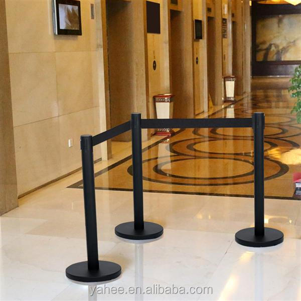 Belt Stanchion Crowd Control Stanchion w/ 6.5' Retractable Belt