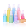 15ml 20ml cosmetic pet spray plastic bottle with colorful sprayer