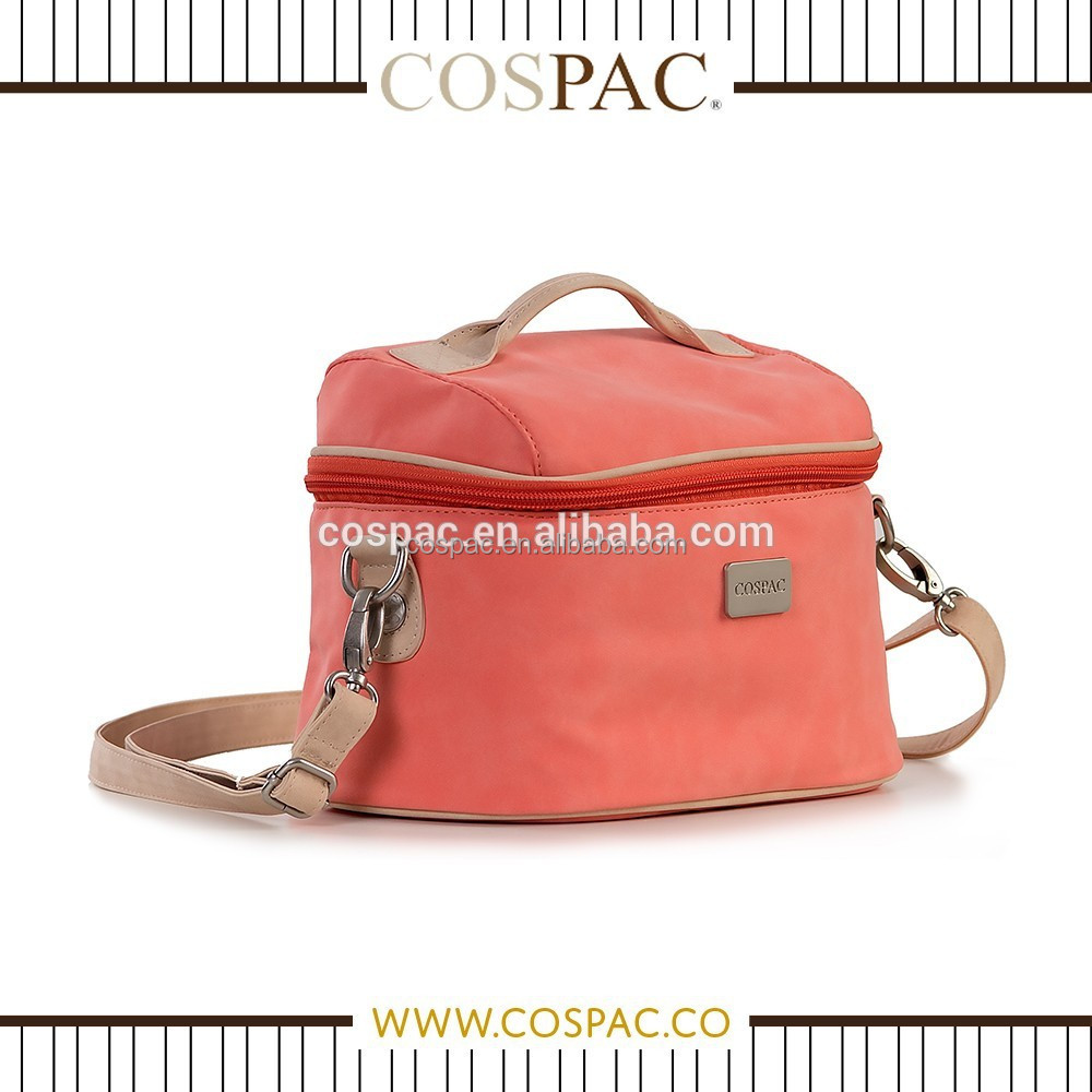 Alibaba china superior peach PU shoulder messenger DSLR camera bag
