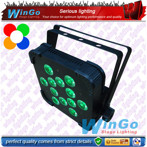 12x15W RGBAW 5-in-1 LED par light/ led flat for party disco & night club decorating led light system