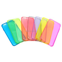 untra thin TPU Gel Case For iPhone 4, transparent tpu for iphone 6 ,colorful thin tpu phone case
