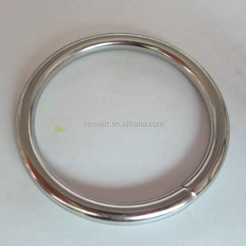 Wholesale 45mm wide silver color iron o shape ring for bags with high quality