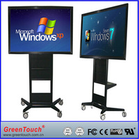 "China factory hot sell 55"" multi touch All-In-One computer with running shall frame"