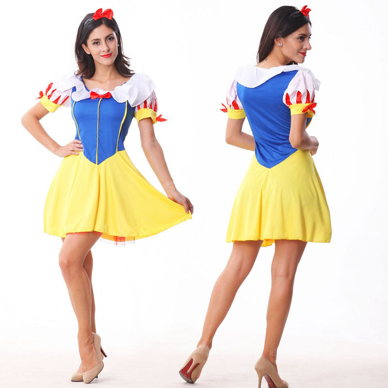 High Quality Snow White Dress Fancy Costume Princess Adult Women