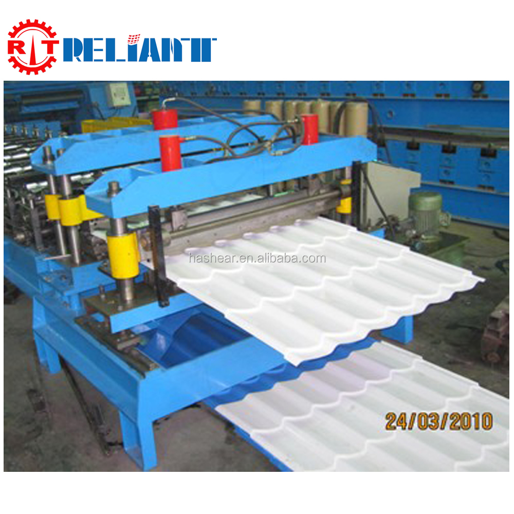 High Precision Customise Roofing Tile Roll Forming Line With PLC Control