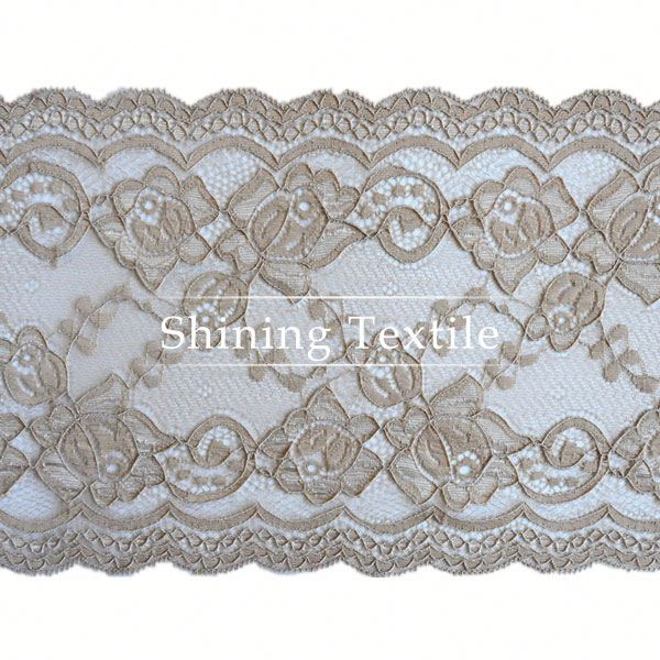 15-20cm Stretch Nylon Spandex Window Curtain Lace For Lingerie