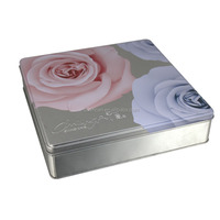 Romantic Square Wedding Gift Tin Box