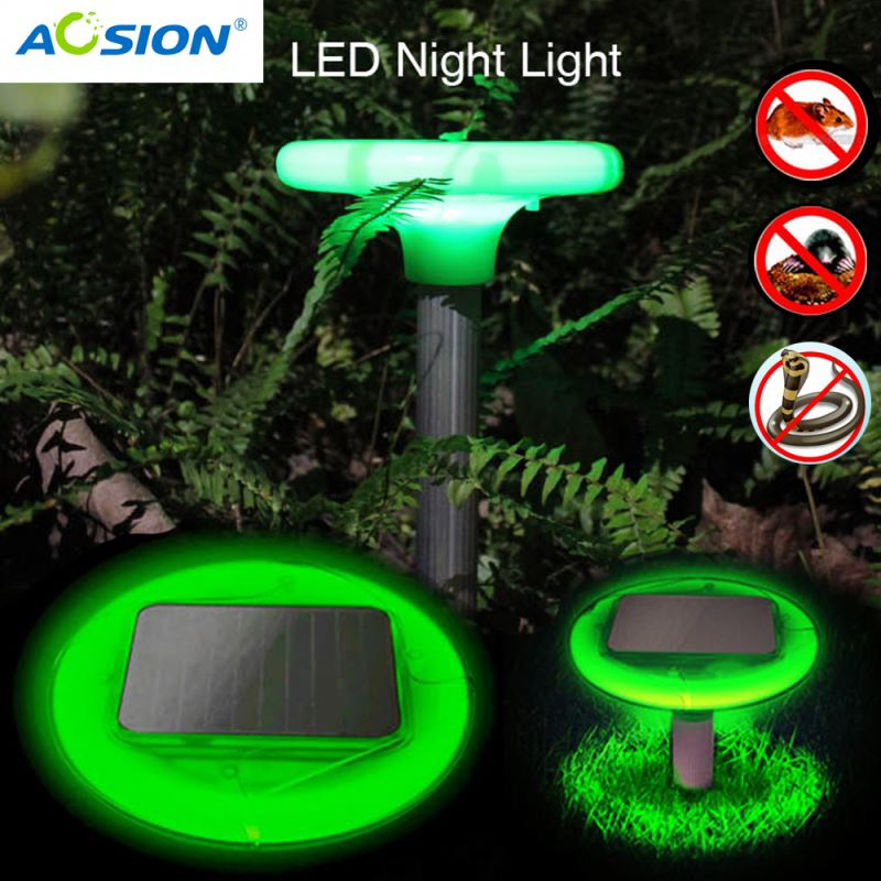 Aosion Waterproof Sonic Vibrate Beautiful garden light solar powered battery powered tunnel mole trap