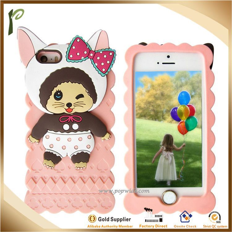 Popwide 2014 New arrival fashion cute funny silicone case for iphone 5,silicone funny silicone case for iphone 5