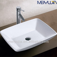 Simple sanitary ware brand bathroom top mount square sink