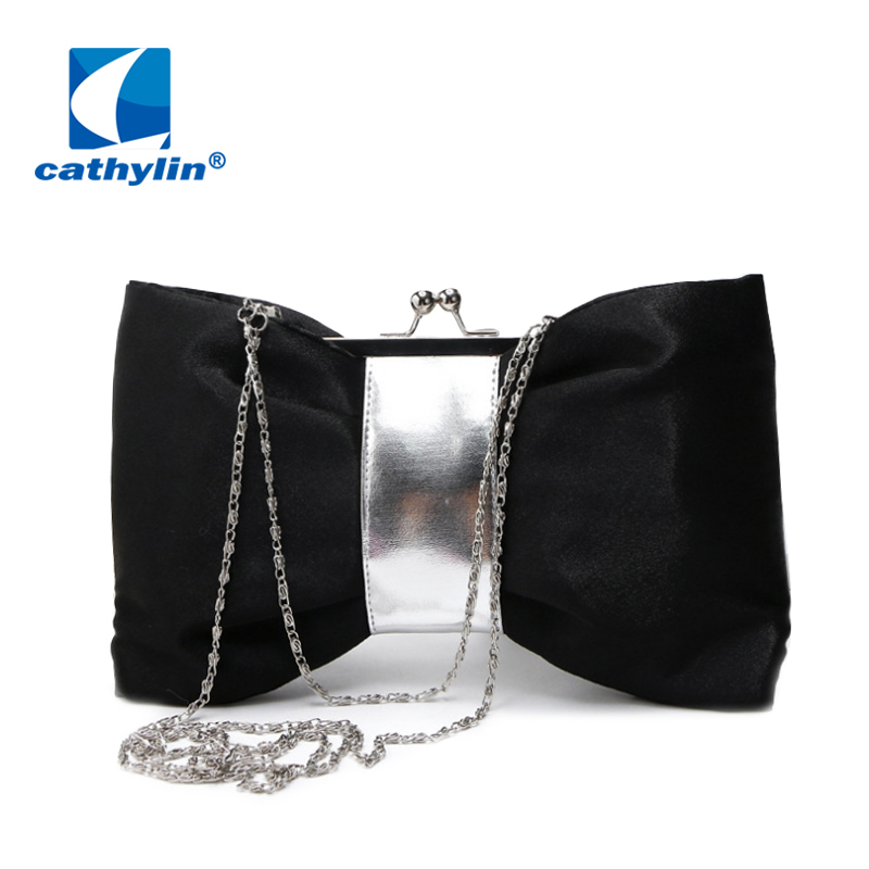 New 2015 Ladies Evening Bags Women Luxury Bow Shaped Minaudiere Female Evening Clutch Bag
