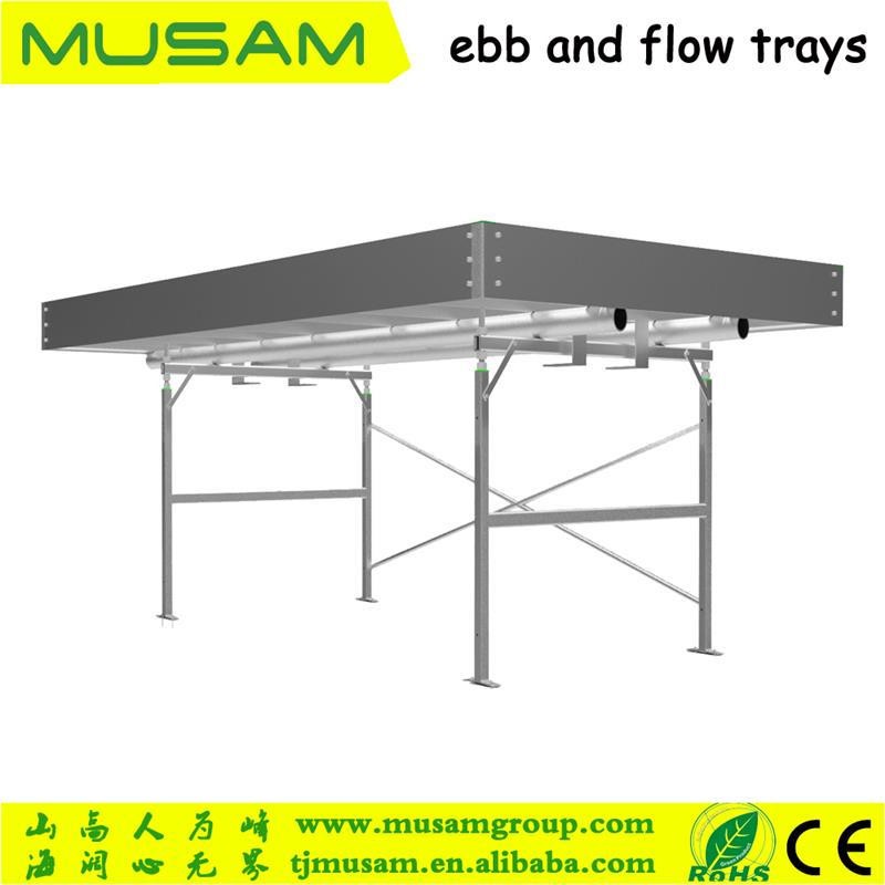 Plastic hydroponic flood table ebb and flow tables