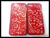TPU silk print shock-proof orange phone case for iphone 5