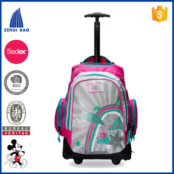Fashion School kids rolling backpack trolley