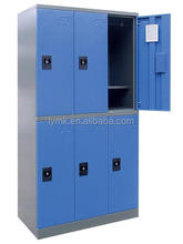 MK Hot selling steel or iron wardrobe orlocker design for small rooms with 6 door