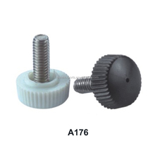 ABS black plastic materials round threaded adjustable feets