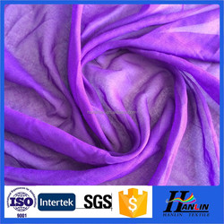 100% polyester sheer voile fabric , cheap voile fabric
