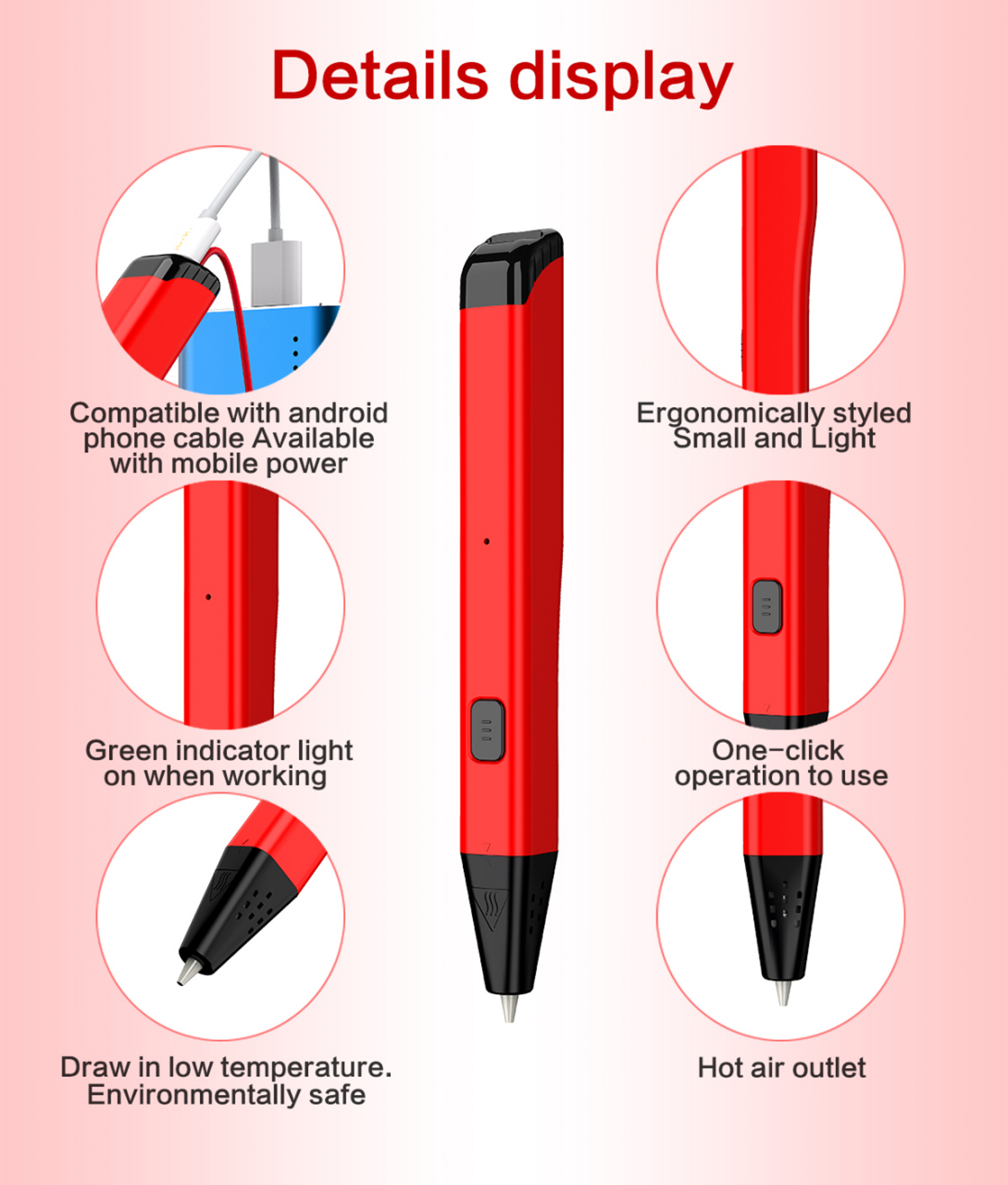 eSUN LTP 4.0 3D pen low temperature 3D printing pen