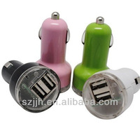 Universal mini dual USB car charger adapter 5V 2A micro USB car charger