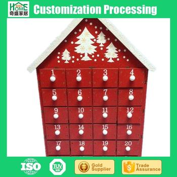 Countdown Tree Shape Santa Wooden Advent Calendar 3540