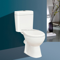 Floor mounted installation type and two piece structure Australia two piece toilet