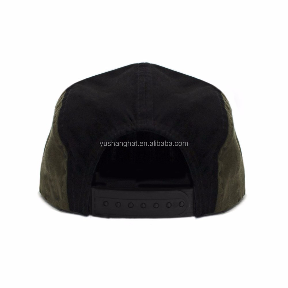 Wholesale green black bicolor metal eyelets plain suede baseball cap