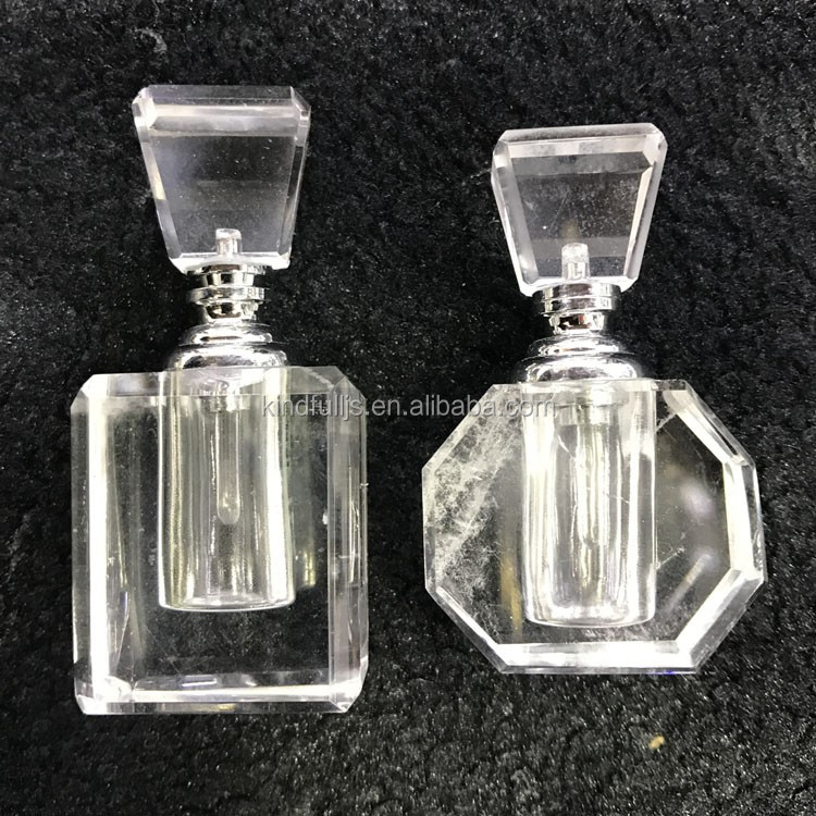 Graceful natural amethyst bottle clear crystal perfume bottle for decoration