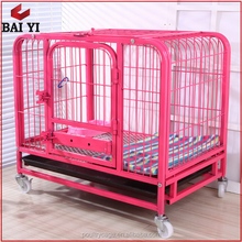 Heavy Duty 6ft Square Tubing Dog Kennel Cage With Wheels (Direct Factory)