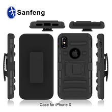 For iphone X case, cover for iphone X holster combo phone case with kickstand