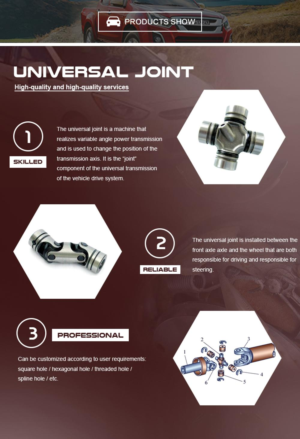 Low price guaranteed quality MR196837 universal joint cross for Japanese cars
