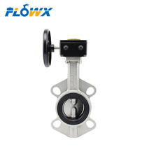PN25 Manual Hand Wheel Worm Gear operated EPDM Seat Stainless Steel Wafer Butterfly Valve
