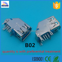 Hot sell a female usb 3.0 socket connector usb 3.0 pcb usb 3.0 connector