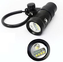 New Arrival Scuba Diving Gear IP68 LED Underwater Video Light Spot/Flood/Red/UV/SOS for Wholesale