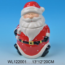 Popular large Christmas Santa Ceramic Cookie Jar