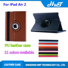 wholesale price high quality PU leather 360 degree rotating for iPad Air 2 360 degree leather case for iPad