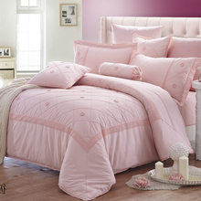 KOSMOS hot sale pink comforter high quality cotton bed comforter set