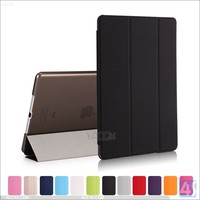 For ipad air smart cover pu leather tri fold tablet pc case