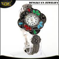 fake watches antique silver filled bracelet for women alloy jewelry wholesaler sale in cheap price
