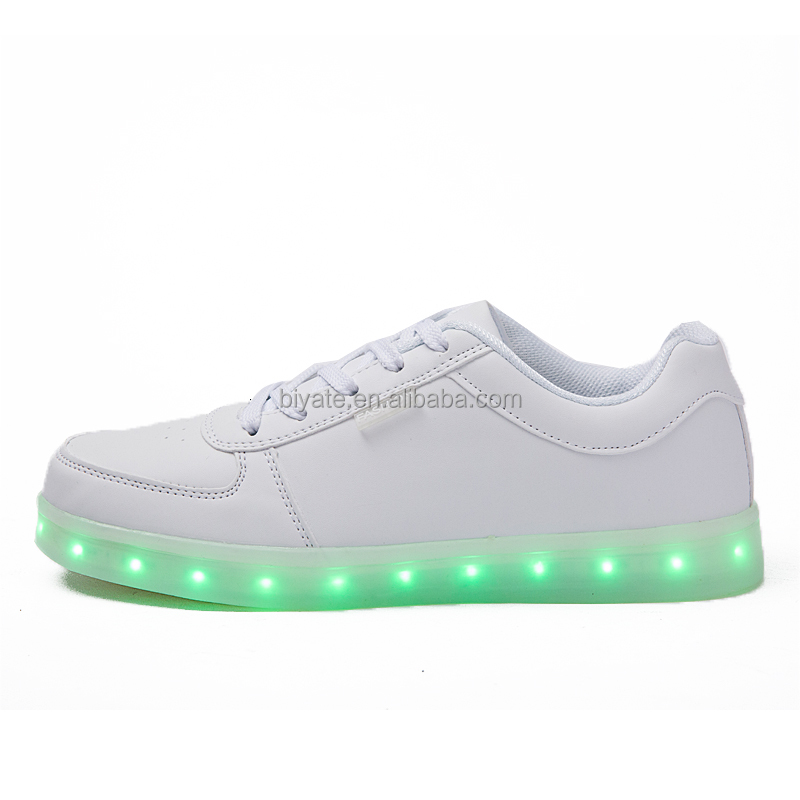 LED light up shoes men fashion colorful LED leather shoes led shoes for men