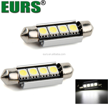 EURS factory cheap price DC12V 7000K-8000K 2W 5050 read light 31mm 36mm 39mm 41mm dome light 4smd car interior led bulb