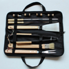 convenional wooden handle bbq tool set