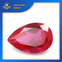 Great Price Synthetic Ruby Pear Cut Fast Shipping Gemstone