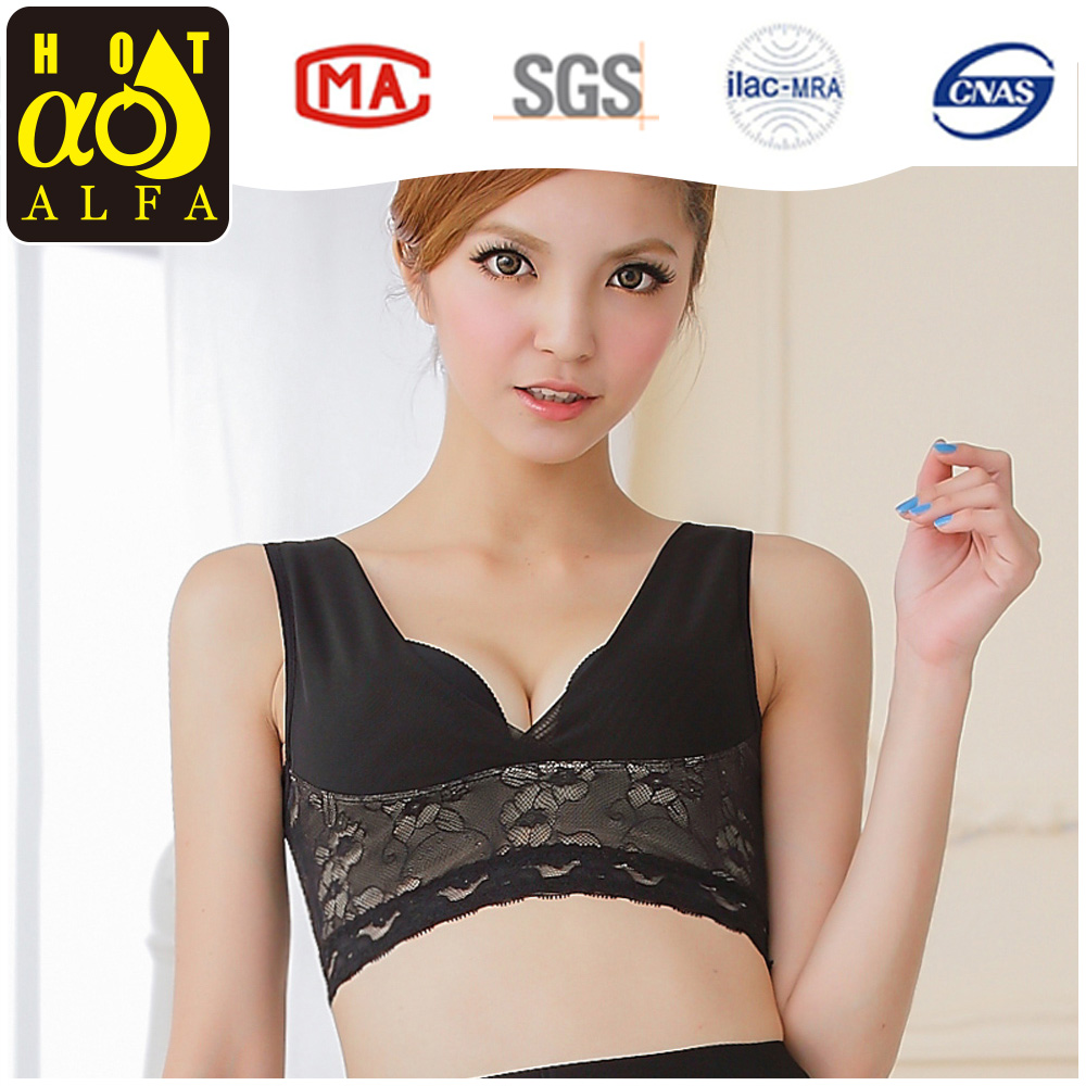 Factory Wholesale Lady Sport Bra Yoga Top Lace Side Hook Sleep Bra <strong>W117</strong>