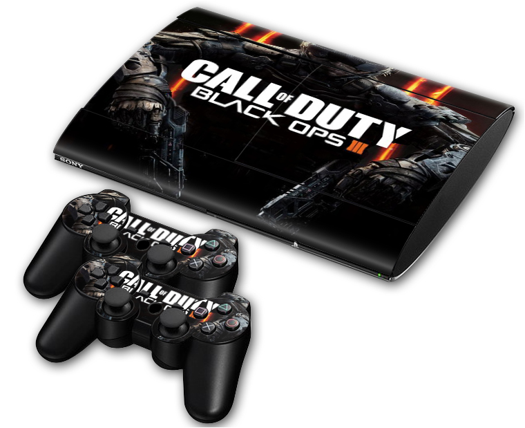 Black Ops 3 Skins For Sony Palystation 3 Slim 4000 Console & 2 Controller Avengers Stickers For PS3 Decal