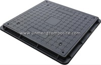 composite parts fiberglass HIDRAULIC SQUARE MANHOLE COVER CLASS UNI EN 124