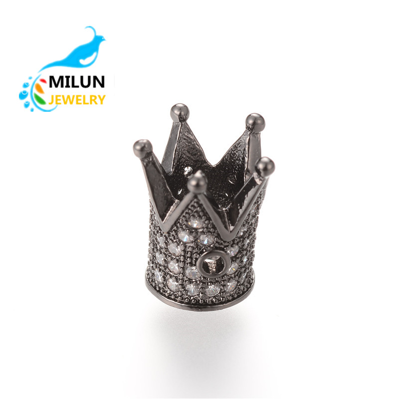Wholesale Custom Metal Jewelry High Quality copper beads crown <strong>charms</strong> for jewelry making