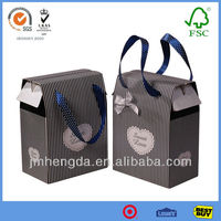 New Design Useful Custom High Quality Black And White Striped Gift Bags