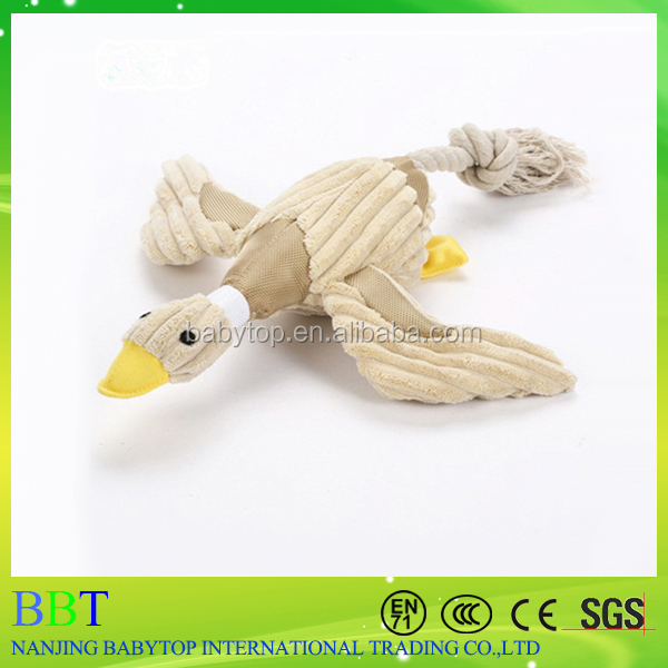 custom made birds shaped plush dog rope toy
